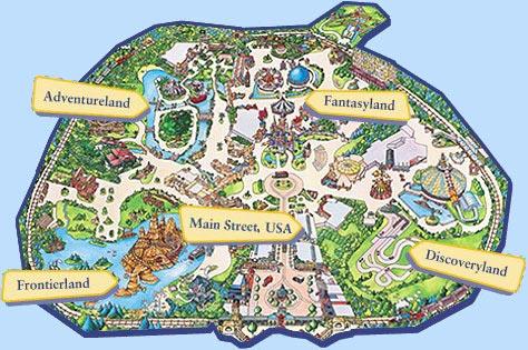 Karte Disneyland Paris Attraktionen.Eurodisney Paris Der Disneyland Park